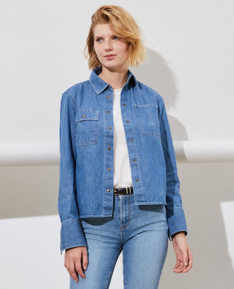 Chemise en jean à poches Denim medium wash Nadigna