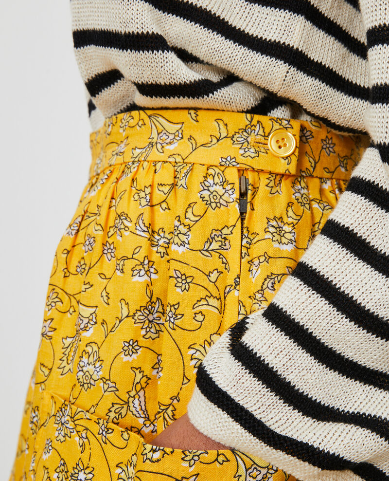 Jupe courte en lin Indie-small-yellow Nabios