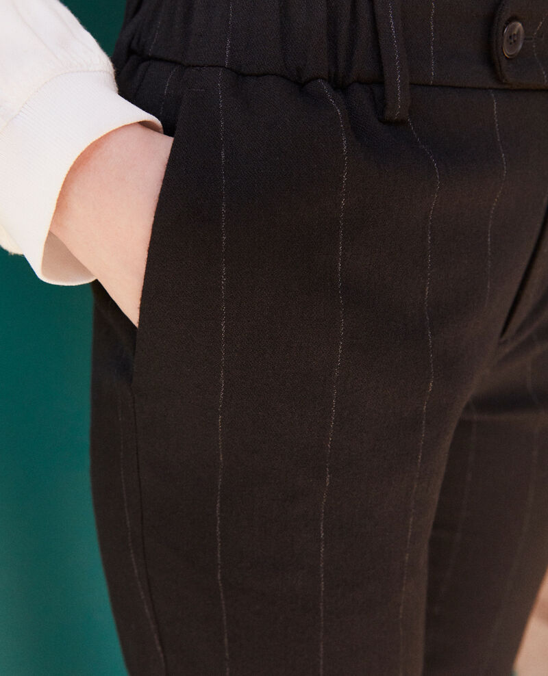 Pantalon coupe carotte Noir Galetta