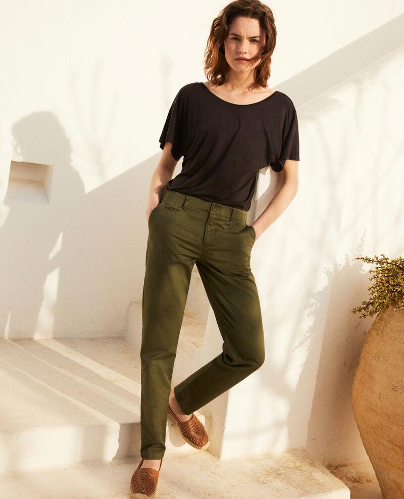 Pantalon en toile Cheng olive Irouba