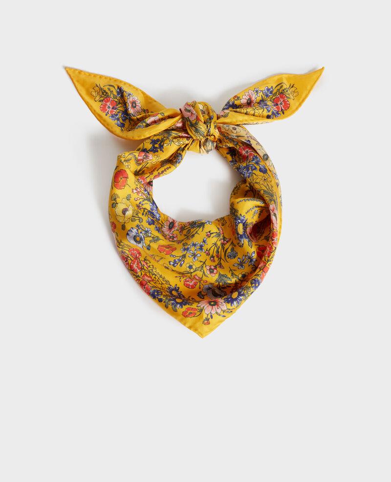 Foulard forme diamant en soie Spectra yellow Nage