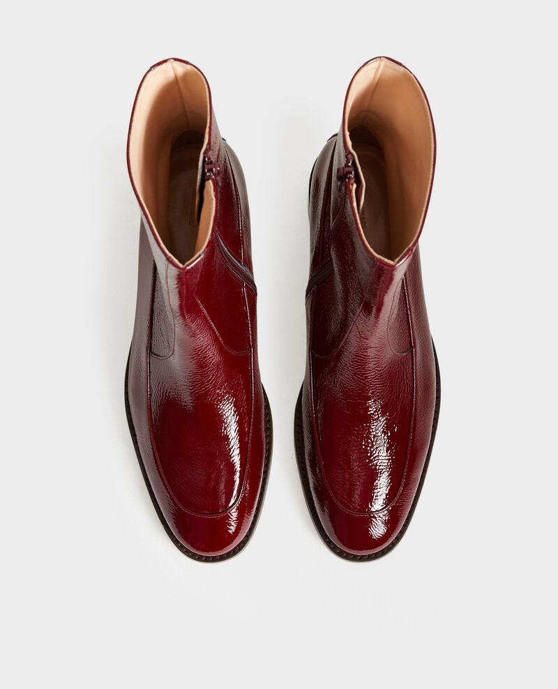 Boots ajustées en cuir Royale red Mamine
