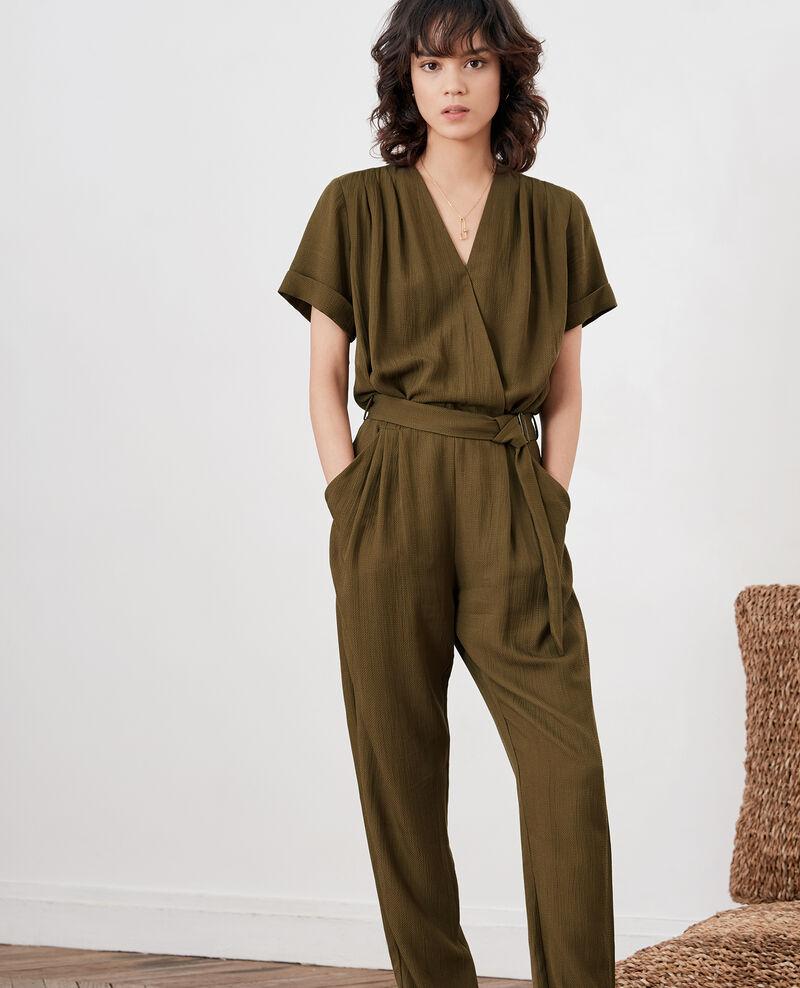 4af61b3887787c Combinaison pantalon femme couleur Dark kaki - Facination | Comptoir ...