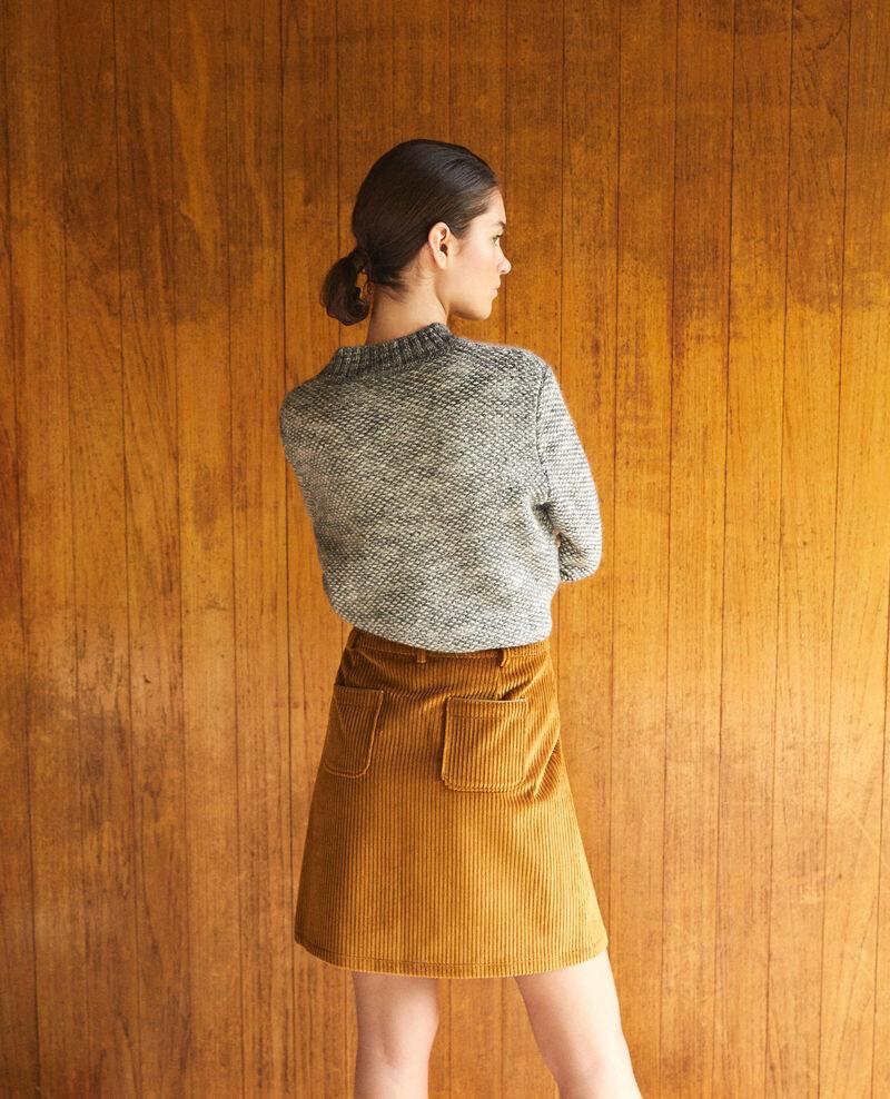 Jupe en gros velours côtelé Golden brown Gammon