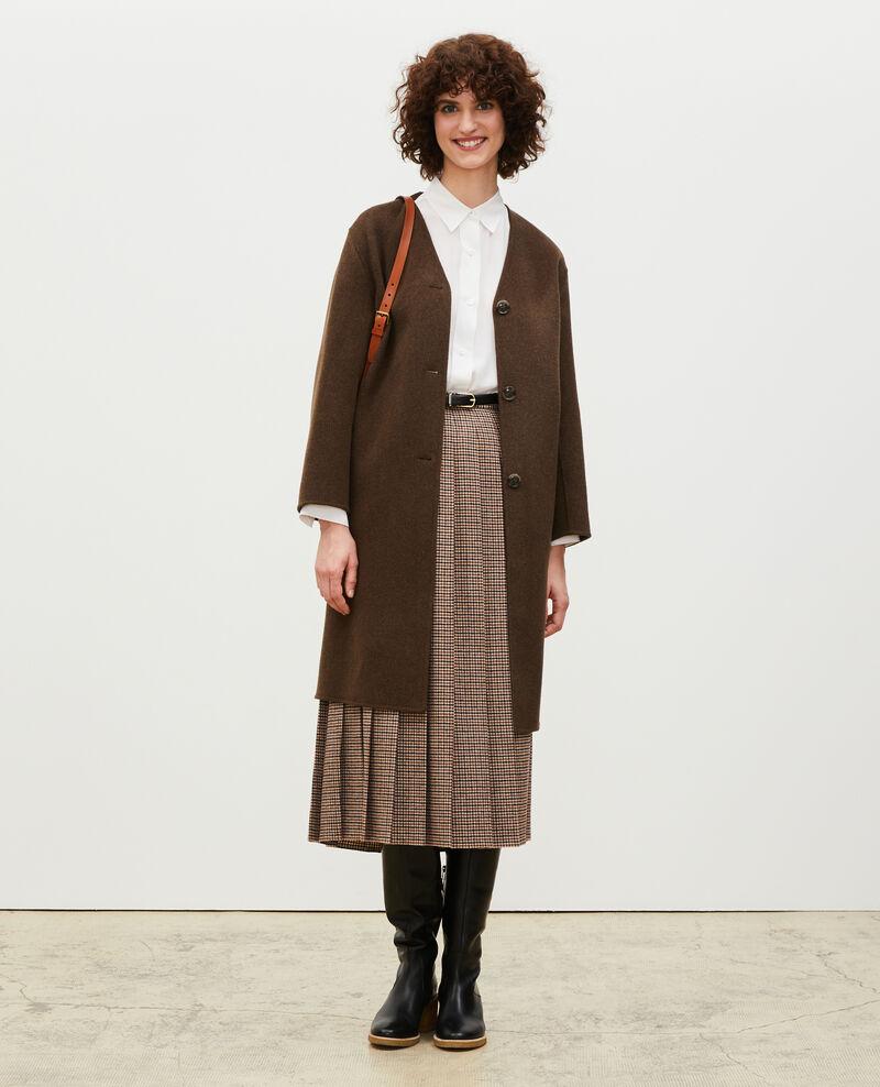 Manteau en laine double face Heather kaki Muuck