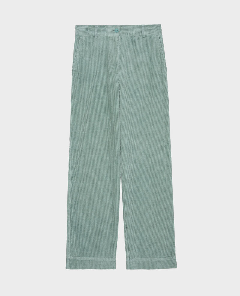 Pantalon large en velours côtelé Chinois green Maora