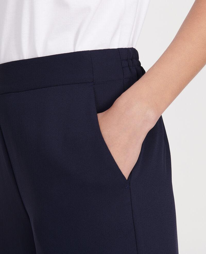 Pantalon fluide élastiqué en polyester Maritime blue Luant