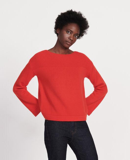 Pull en laine et cachemire FIERY RED