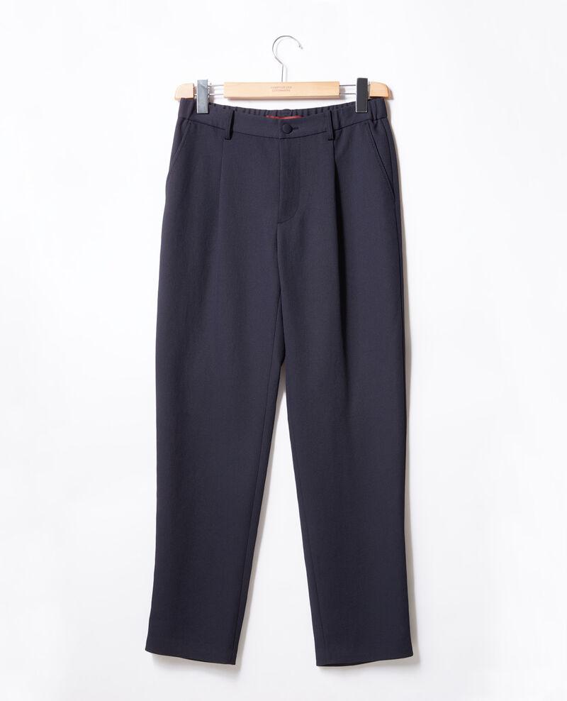 Pantalon en crêpe Marine Focarina