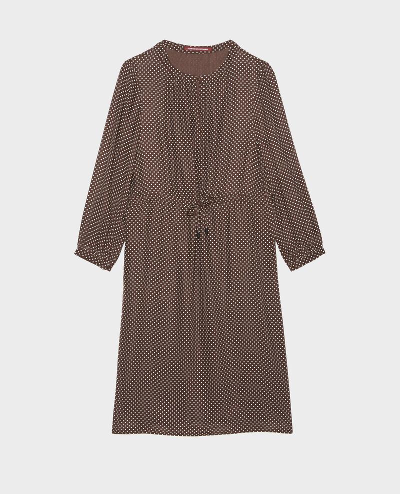 Robe ample en soie Little pois coffee bean Megrisa