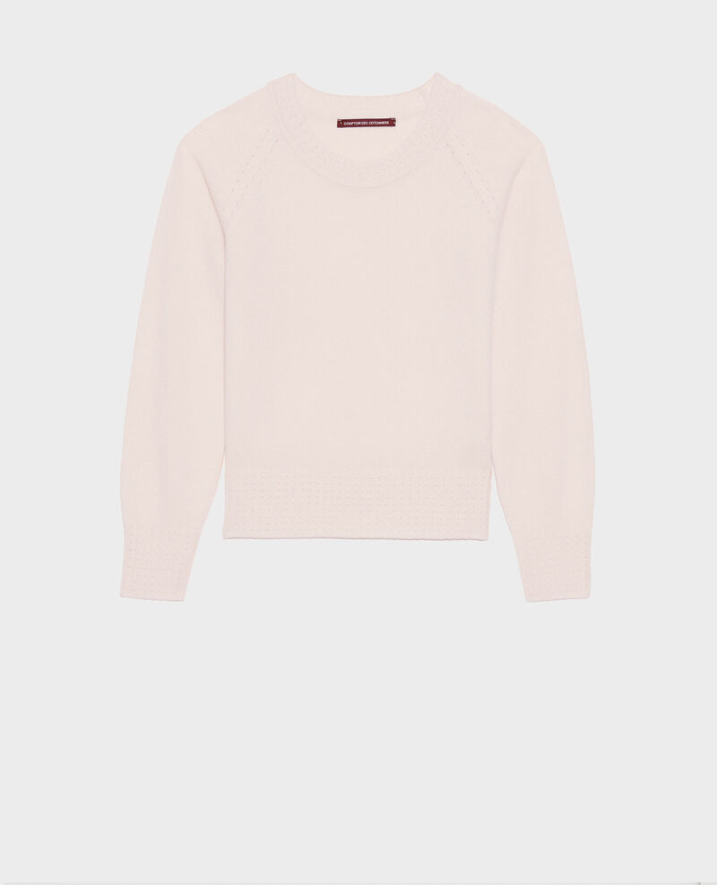 Pull en cachemire à col rond Seashell pink Nogna