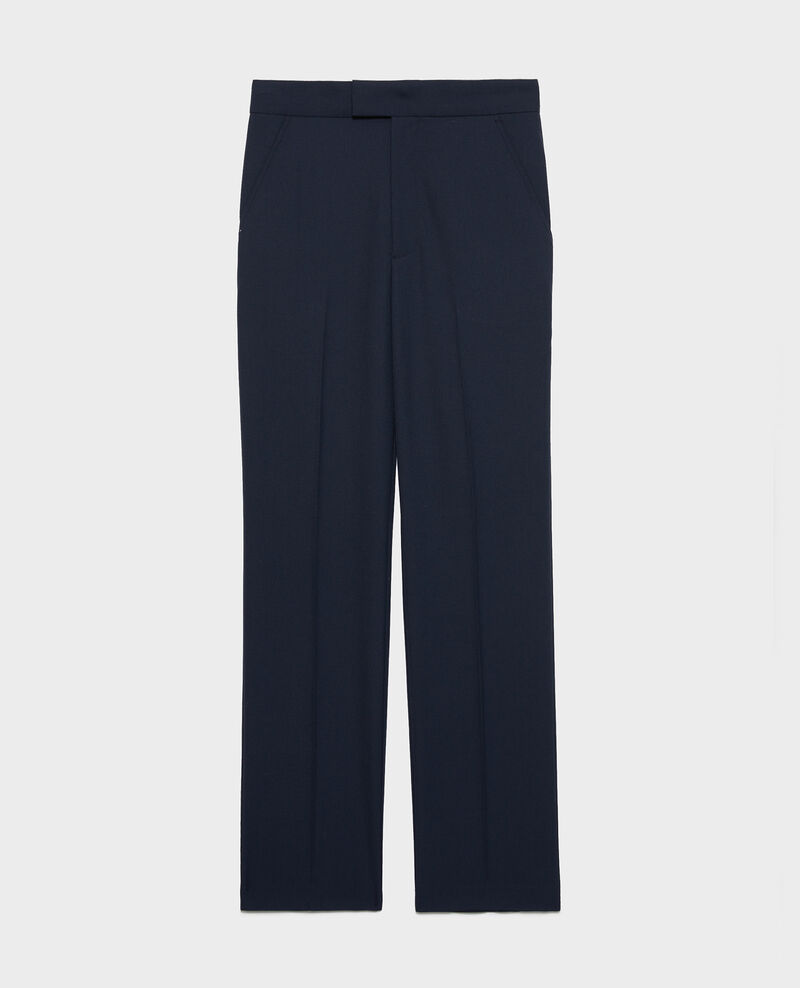Pantalon droit en laine masculin  Dark navy Lisabelle