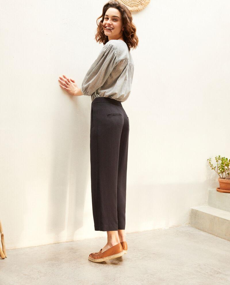 Pantalon taille haute Noir Iokyo