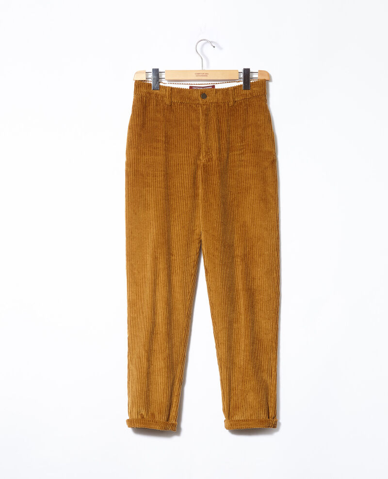 Pantalon en gros velours côtelé Golden brown Ganasso