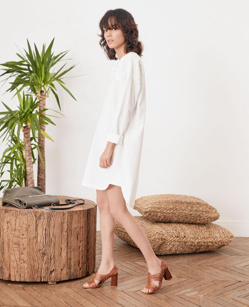 Robe rayée Off white/navy stripes Facette