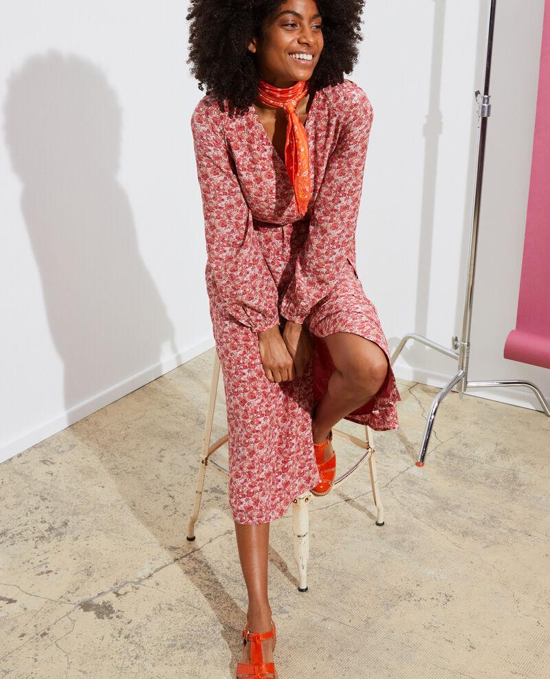 Robe longue en soie Art deco pink Pavisha