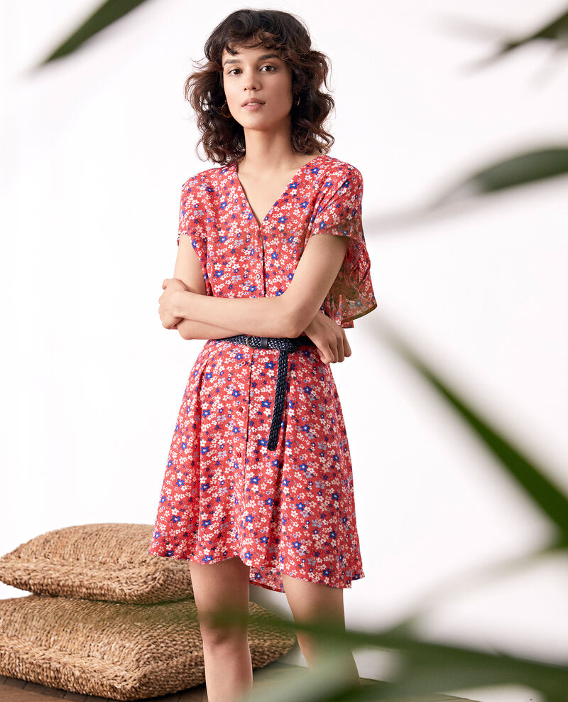 Robe imprimée Honolulu ultra pink Frenchy