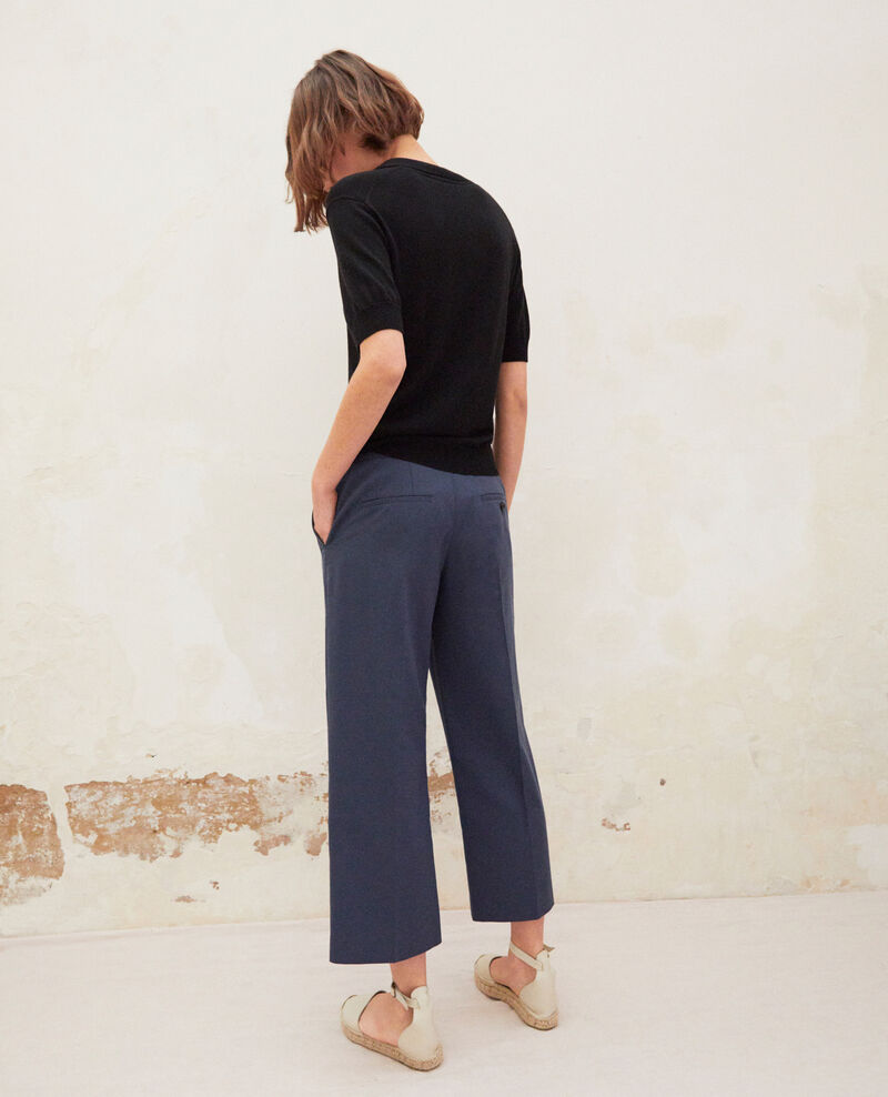 Pantalon coupe carotte Ink navy Idma