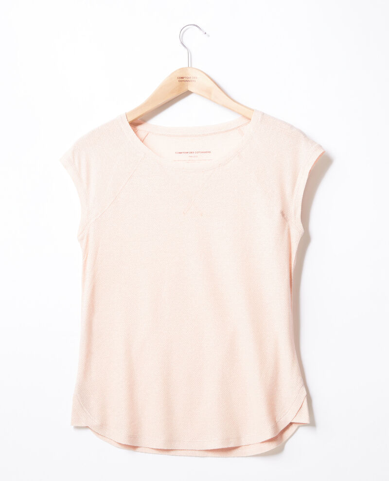 T-shirt irisé avec lin Nude Falexia