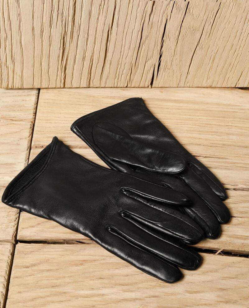 Gants en cuir Noir Gogant