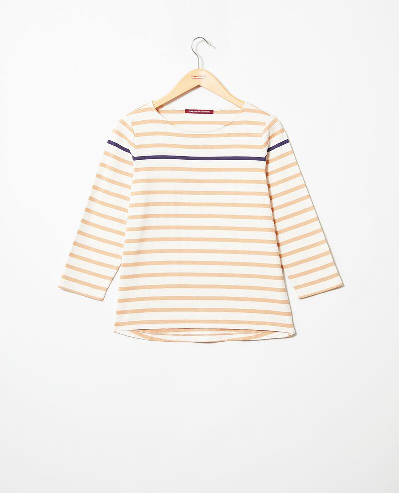 T-shirt marinière Ow/camel/navy Isteria