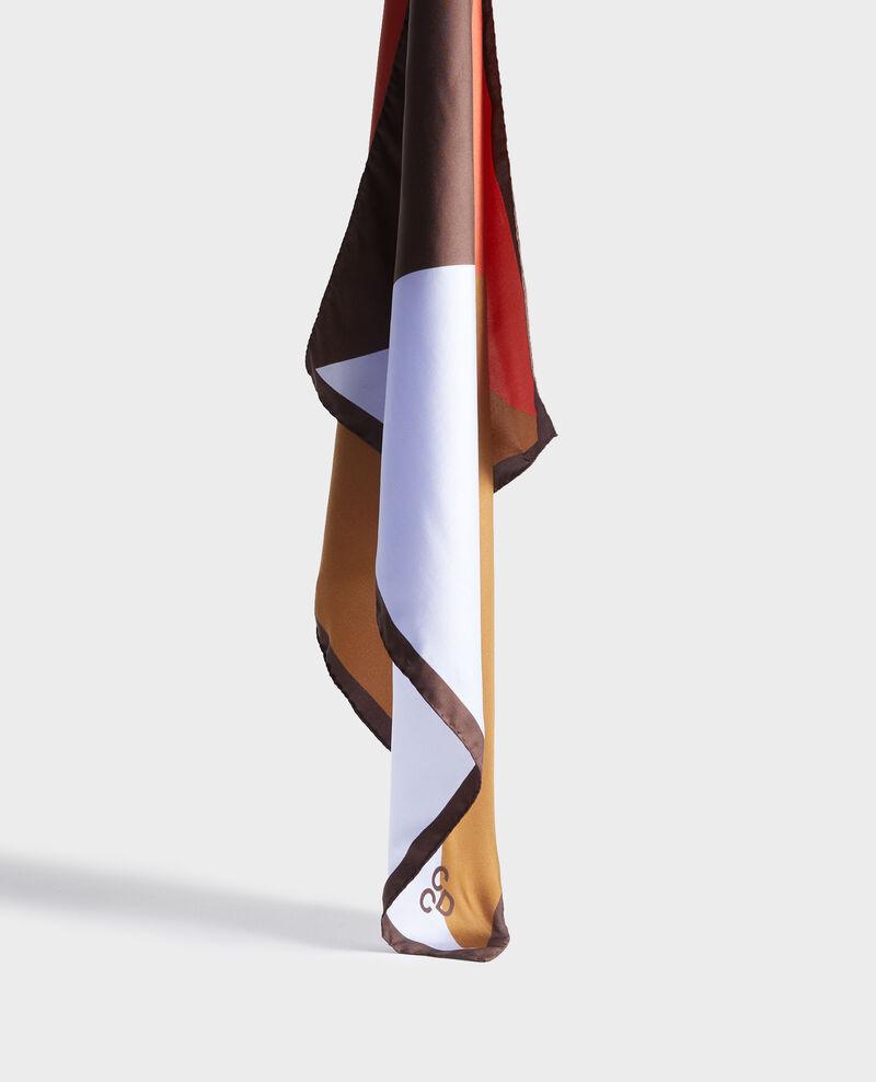 Foulard carré de soie Blue heron Nassana