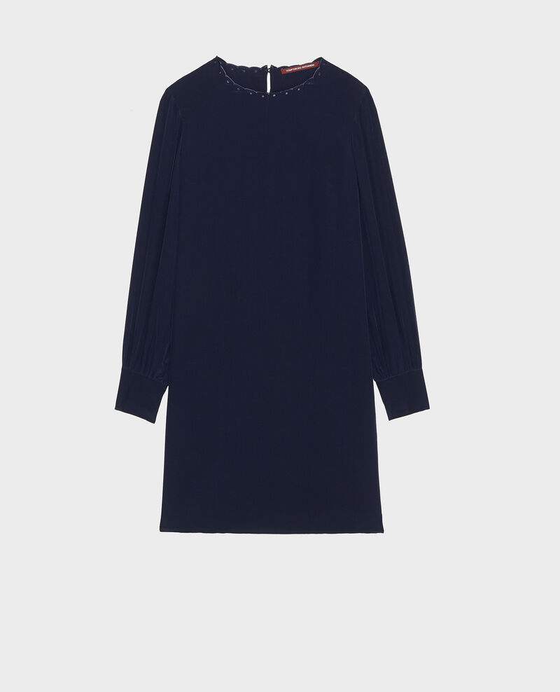 Robe en crêpe de chine Maritime blue Lamax