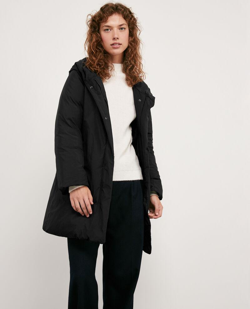 manteau doudoune femme avec capuche couleur noir domette comptoir des cotonniers. Black Bedroom Furniture Sets. Home Design Ideas