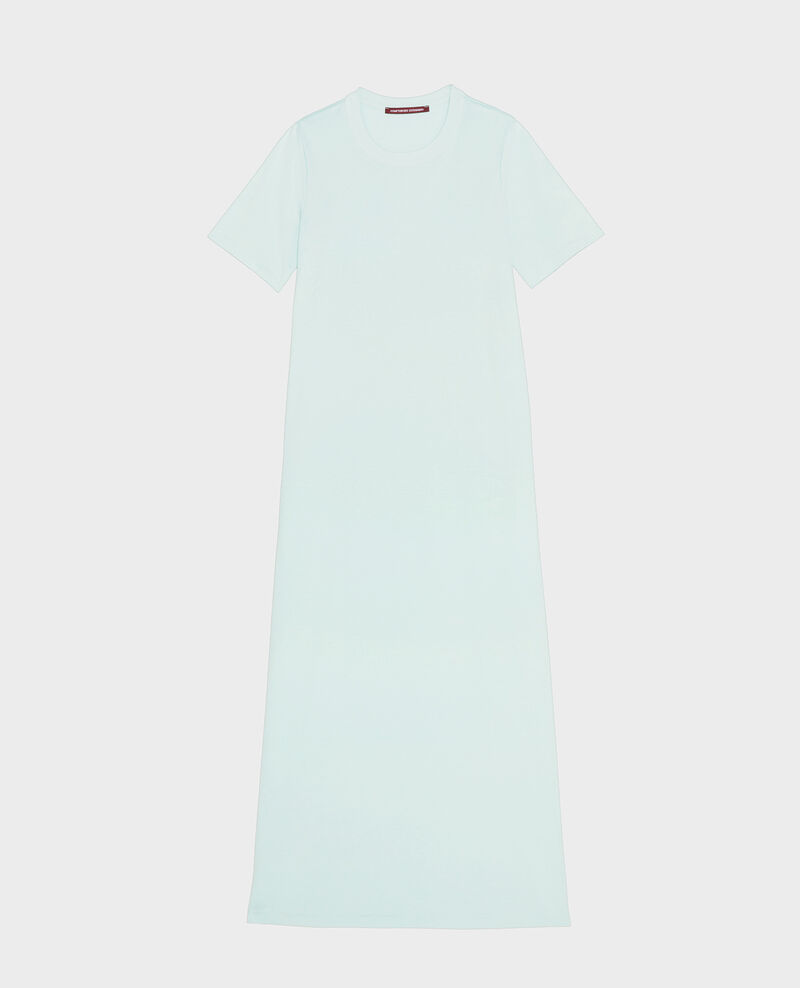 Robe longue en coton mercerisé Blue haze Larosata