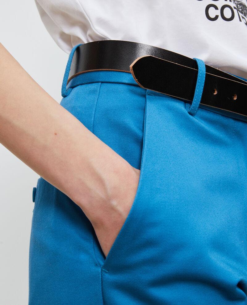 Pantalon chino 7/8e fuselé en coton Faience Nezel