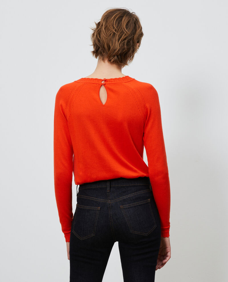 Pull en coton et soie Spicy orange Nita