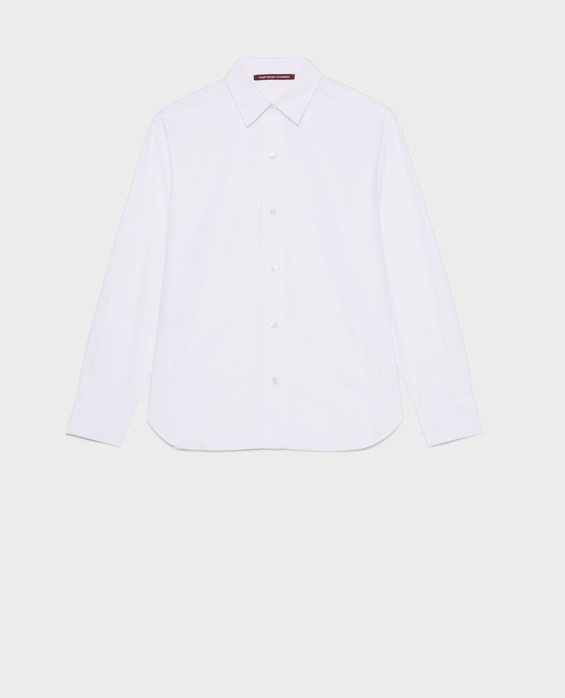 Chemise boyish en coton Optical white Lynda