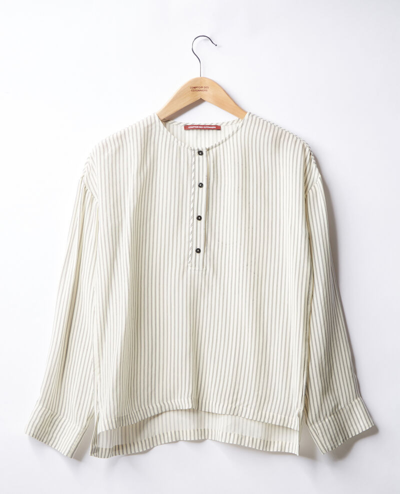Blouse rayée Off white/black stripes Fraise