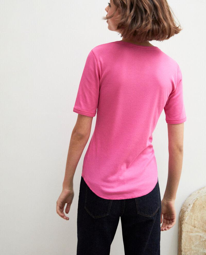 T-shirt côtelé Wild orchid Ibabie