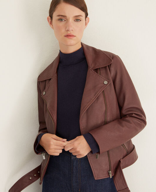 Veste intemporelle en cuir DECADENTE CHOCOLATE
