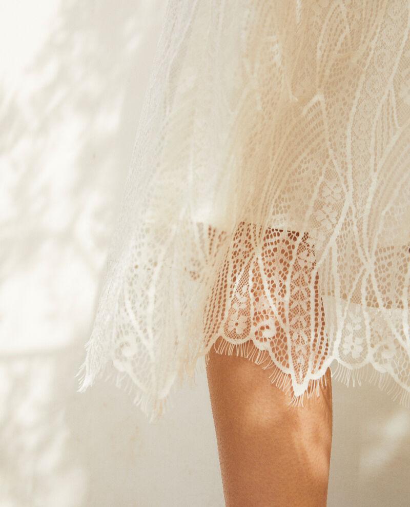 Robe fines bretelles en dentelle Off white Idris