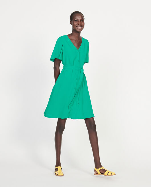 Robe fluide en viscose crêpe  GOLF GREEN