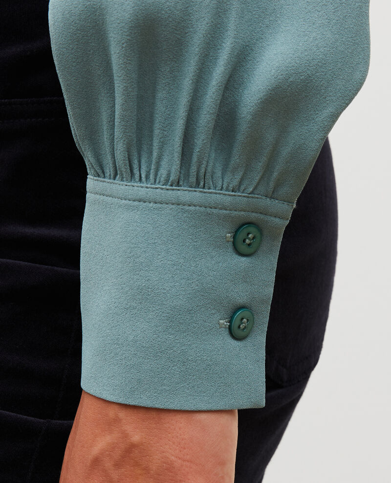 Chemise manches longues à col noué  Treillis Meyrala