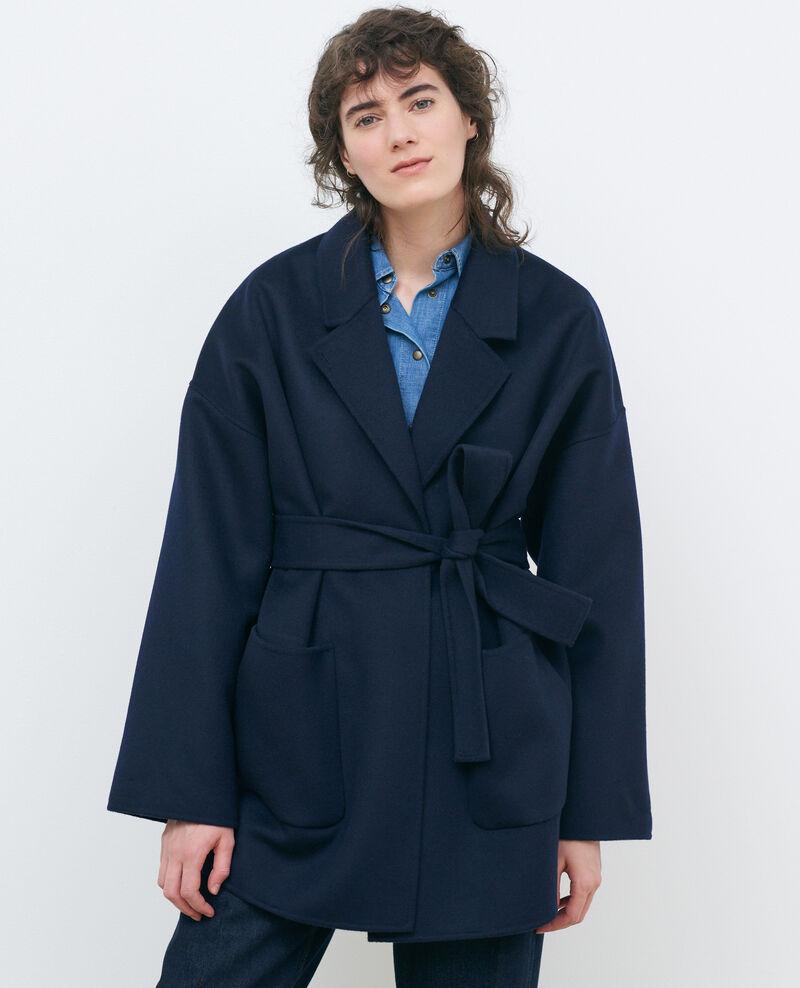Manteau en laine et cachemire double face Night sky Pantin