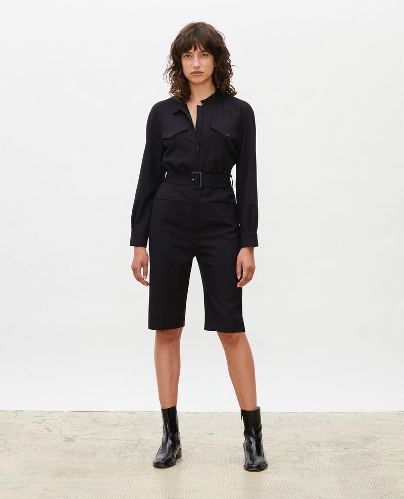 Combinaison bermuda en laine Black beauty Marbache