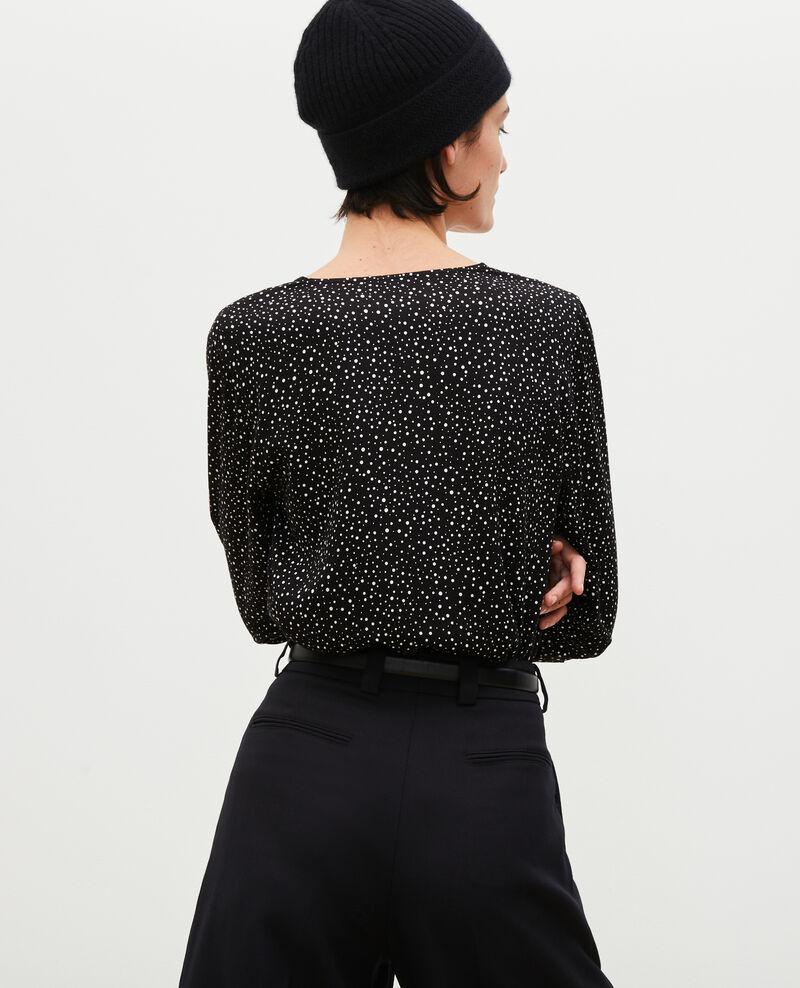 Top manches longues imprimé Print constellation black Mignon