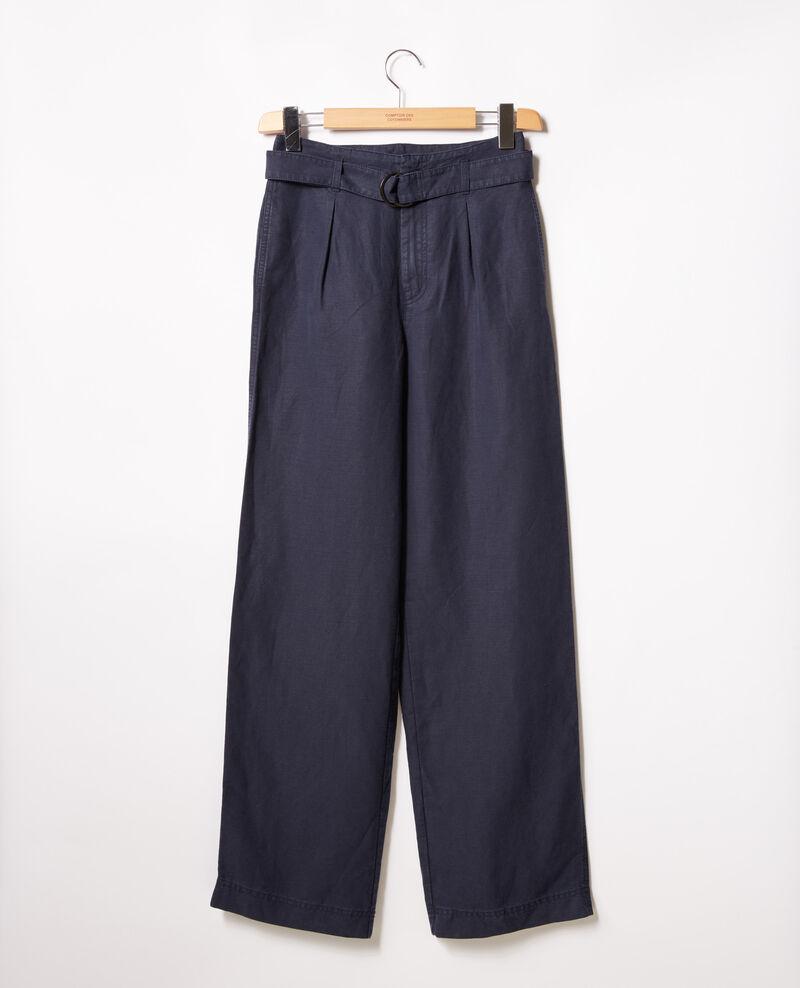 Pantalon large Navy Figuerie