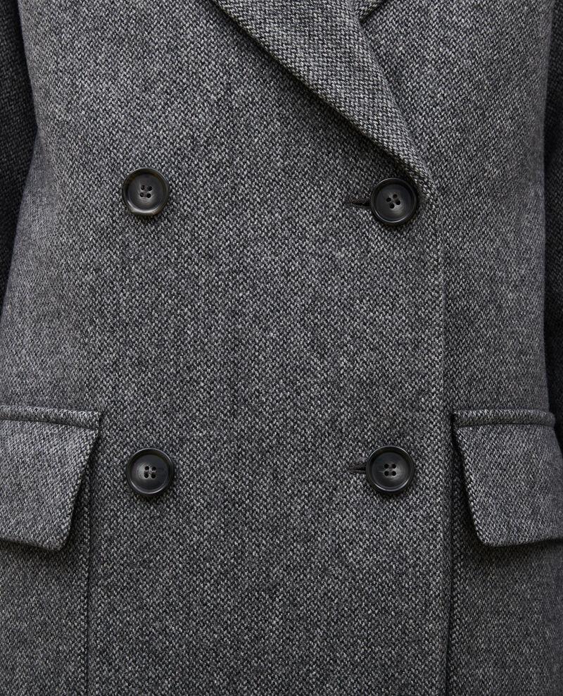 Pardessus croisé oversize en laine Medium grey melange Massily