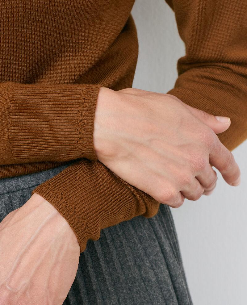 Pull col rond en laine mérinos Monks robe Passy