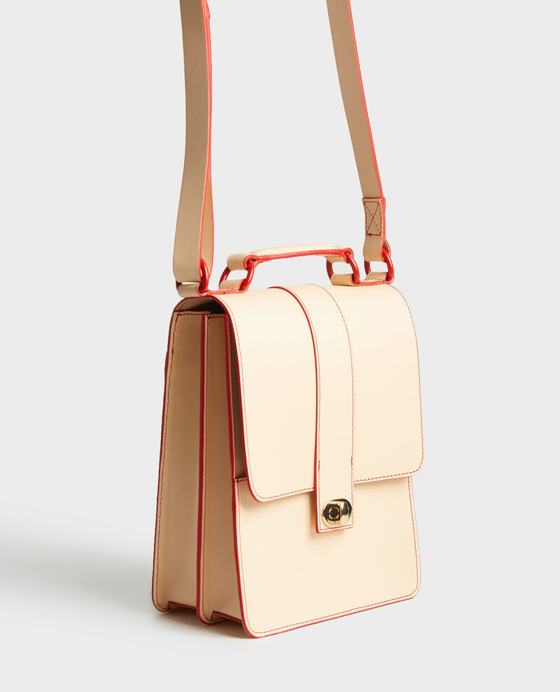 Sac en cuir Stripes fiery red gardenia Lacolyte