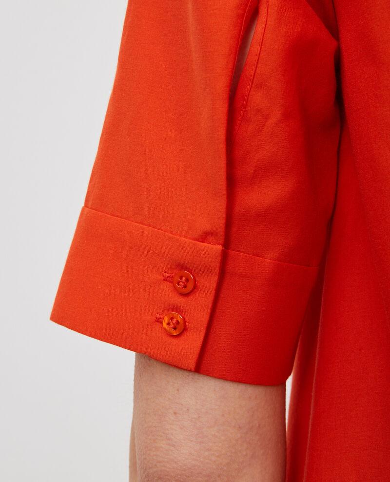 Robe courte en coton et soie  Pureed pumpkin Nerniere