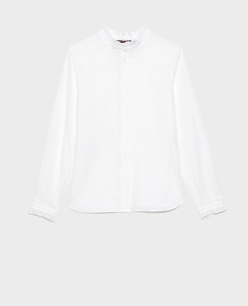 Chemise à col volanté Brilliant white Nacelle