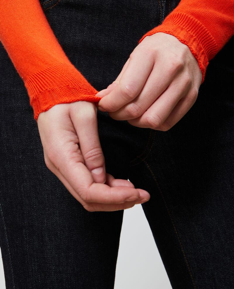 Pull en coton et soie Spicy orange Nita