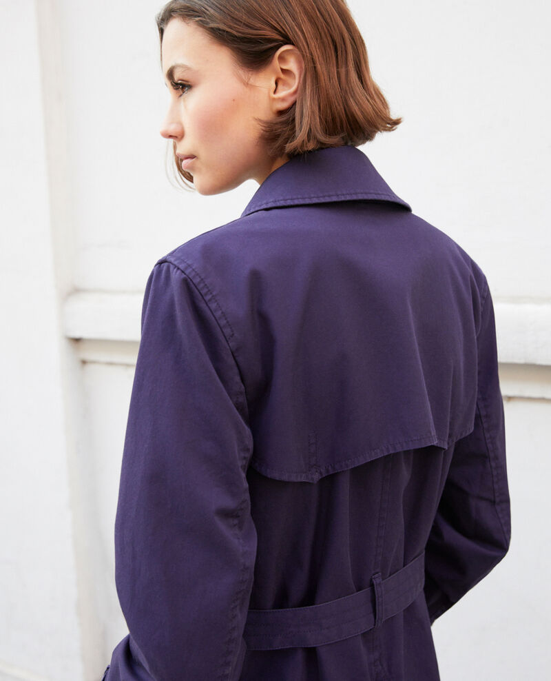Trench intemporel court Ink navy Isore