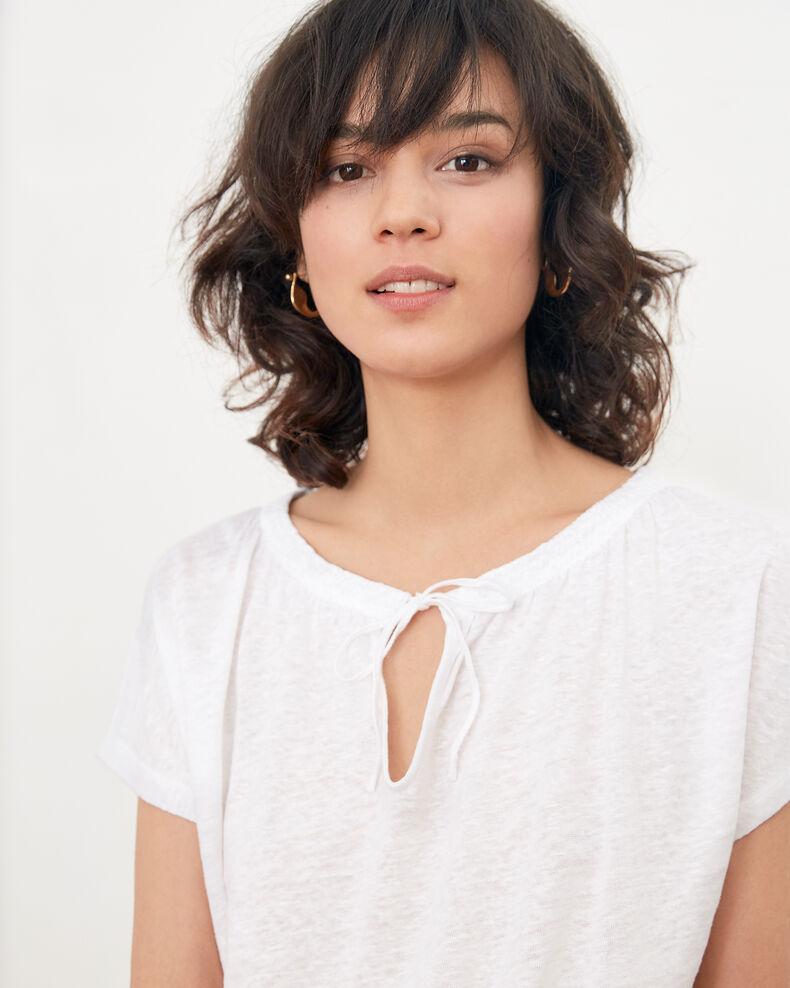 T-shirt en lin Blanc Flabi